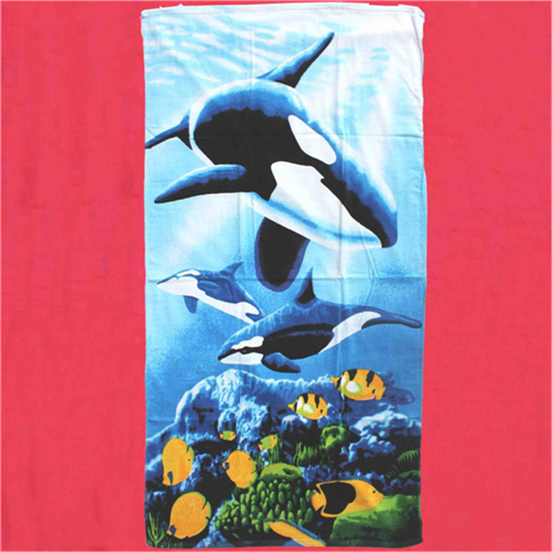 customizable rectangular micro fibre printed beach towels