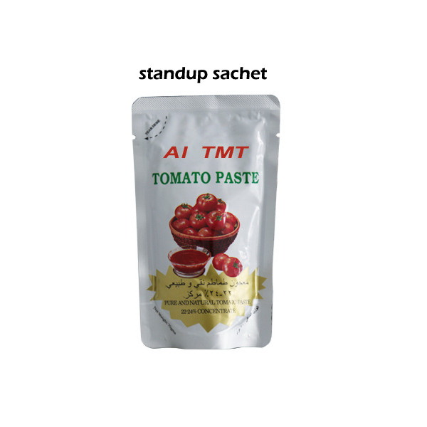Pouch tomato paste 70g with best material
