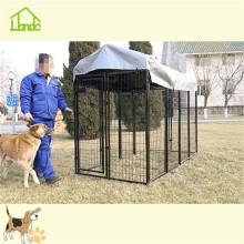 Large wire welded dog kennel runs with waterproof cover