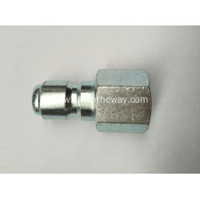 "Pressure Washer 3/8"" Female NPT-F Zinc Plated Quick Connect Plug 4000 PSI"