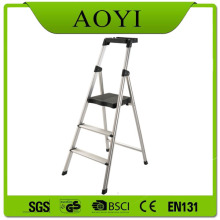 Folding step ladder with tool tray