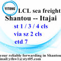 Ocean Freight Forwarder Free Shipping to Itajai