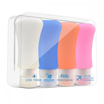TreatMe 4 Pack Silicone Travel Bottles Squeezable