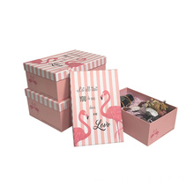 Customized Luxury Flamingo Paper Gift Packaging Paper Box
