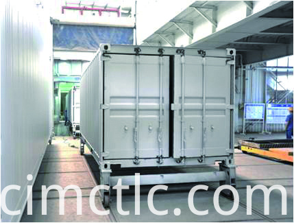 Painting Line for Electric Control Container Integration