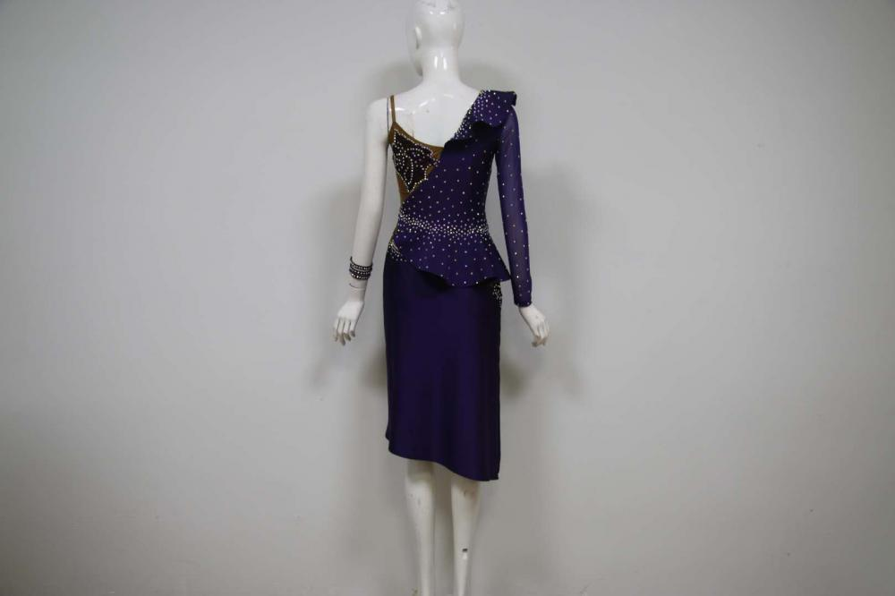 Purple Latin Dresses Us
