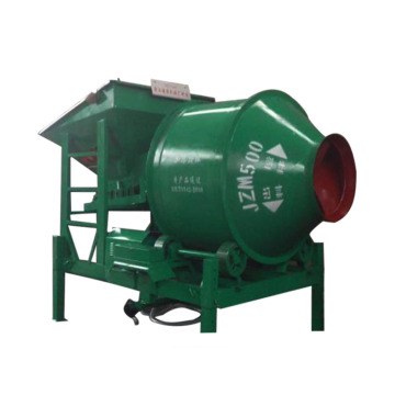 Electric rotating drum concrete mixer