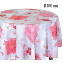Elegant Tablecloth with Non woven backing Oval