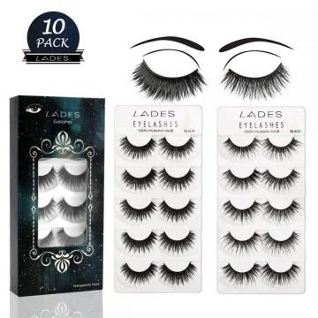 LADES 10 Pair False Eyelashes