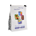 Square bottom stand up pouch side gusset food packaging bag/eight side sealed flat bottom Heat seal window pouch for tea bag