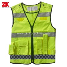 Oxford multi-functional pockets reflective warning vest
