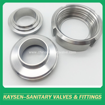 3A Sanitary unions round nut SS304/SS316L