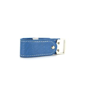 blue true leather usb flash drive