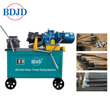 construction rebar used thread rolling machine