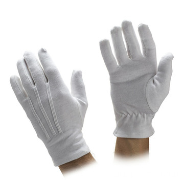 Military Formal White Nylon Parade Gloves Usher