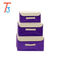 Wholesale cardboard decorative storage boxes/foldable storage box/Fabric storage box