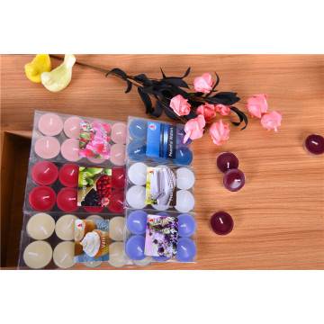 PVC Box Packaged High Quality Color Tealight Candles