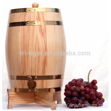 Free sample for for China Wooden Wine Box,Single Bottle Wine Box,Solid Wine Box Supplier 1.5 L 3L 5L 10L upright Whiskey wine Oak Barrel export to Puerto Rico Wholesale