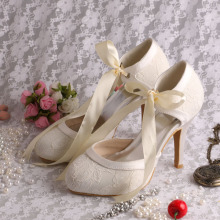 High Heel Ivory Bridal Shoes Lace