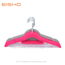 Hot sale for Velvet Non Slip Hangers EISHO Velvet Shirt Flocking Hanger supply to United States Factories