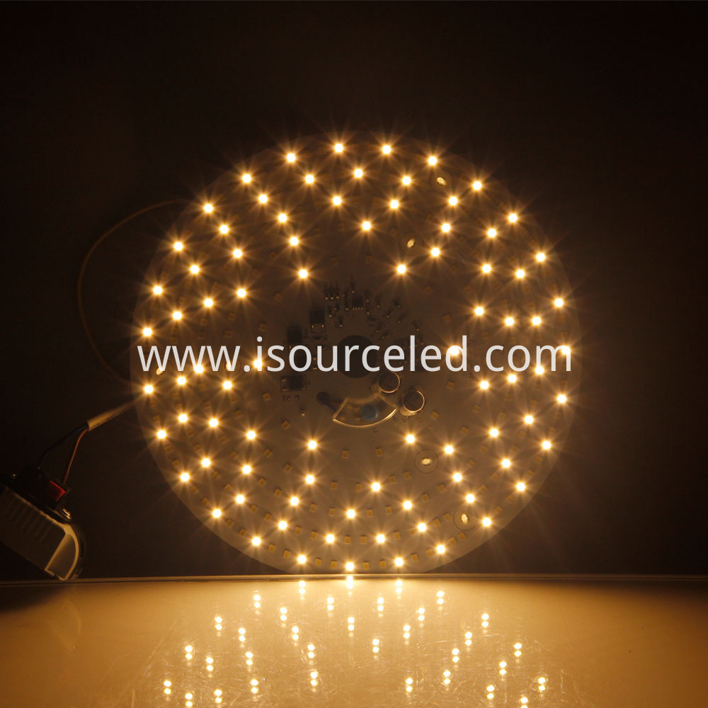 Colorable smd 2835 Round 24W AC LED Module dimming effect diagram