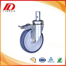 Factory Price for Stem Round Tpr Wheel Caster 4 inch TPE industrial caster wheels supply to Guyana Supplier