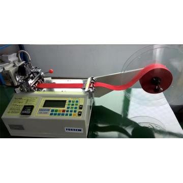 Automatic Grosgrain Ribbon Cutter Machine with Hot Knife