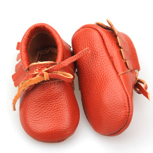 Red Christmas Bowknot Baby Casual Moccasins