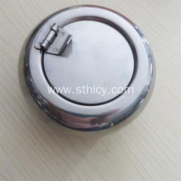Large Stainless Steel Ashtray Drum With Cover