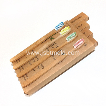 Custom made cheap Charcoal bamboo toothbrush