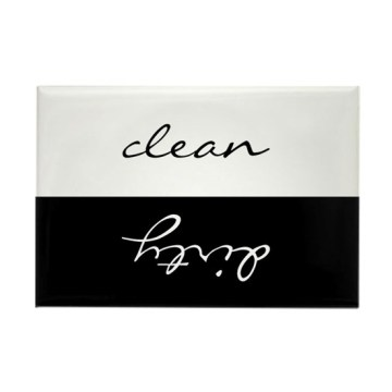 Custom Clean Or Dirty Dishwasher Rectangle Magnet