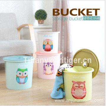 Eco-friendly home decorative pp toy organizer basket storage bucket for Children