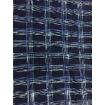 Check Design Polyester Bubble Crepe Printing Fabric