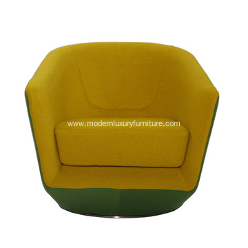 Unique Design U-turn Fabric Swivel Chair