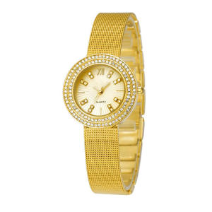 Top Brand Stainless Steel Gold Watch