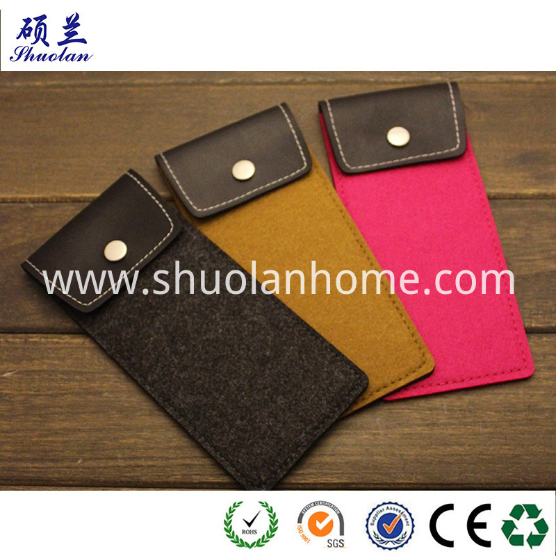 Leather Cover Glasses Bag