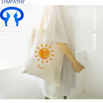 Custom simple canvas bag with oblique span