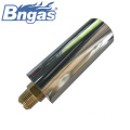 Gas tube burners with brass injector for boiler