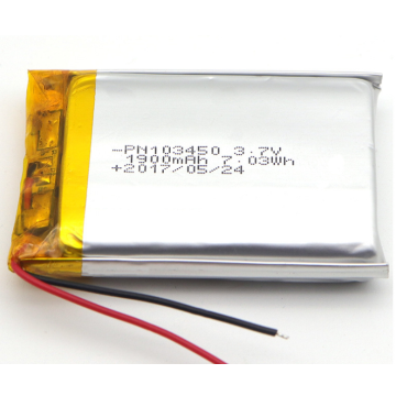 3.7V 1800mAh Lithium Ion Polymer Battery  (LP3X5T10)