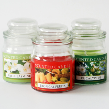 120ml natural scent candle in glass jar