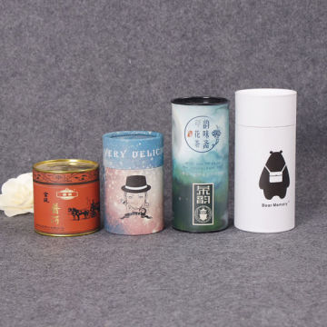 Customized Cylinder Tea Packaging Paper Box Several Size