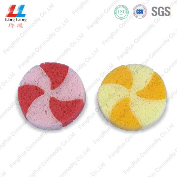 Lovely circle sponge bathroom tools