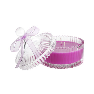 Paraffin Wax Luxury Scented Candy Crystal Jar Candles