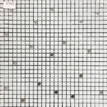White Color Glass Mix Crystal Mosaic