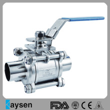 Reliable for China Sanitary Ball Valves,Hygienic Ball Valves,Food Grade Ball Valves,Sanitary Stainless Steel Ball Valves Manufacturer 3A 3PC Sanitary Ball Valve Weld Type supply to Heard and Mc Donald Islands Manufacturers