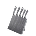 5pcs Wooden Kitchen Knife Set with Magnetic Stand