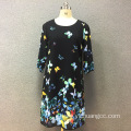 Women's polyester butterfly digital printed dress