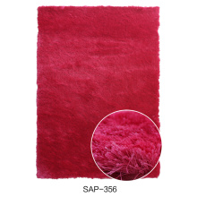 Polyester Silk Shaggy Carpet with Solid Color