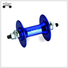 Blue racing bicycle disc brake hub motor