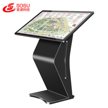 43 inch standing kiosk LCD IR touch screen